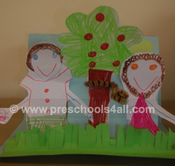adam and eve, preschool activities