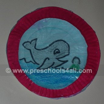 whale craft, jonah and the whale, preschool activities