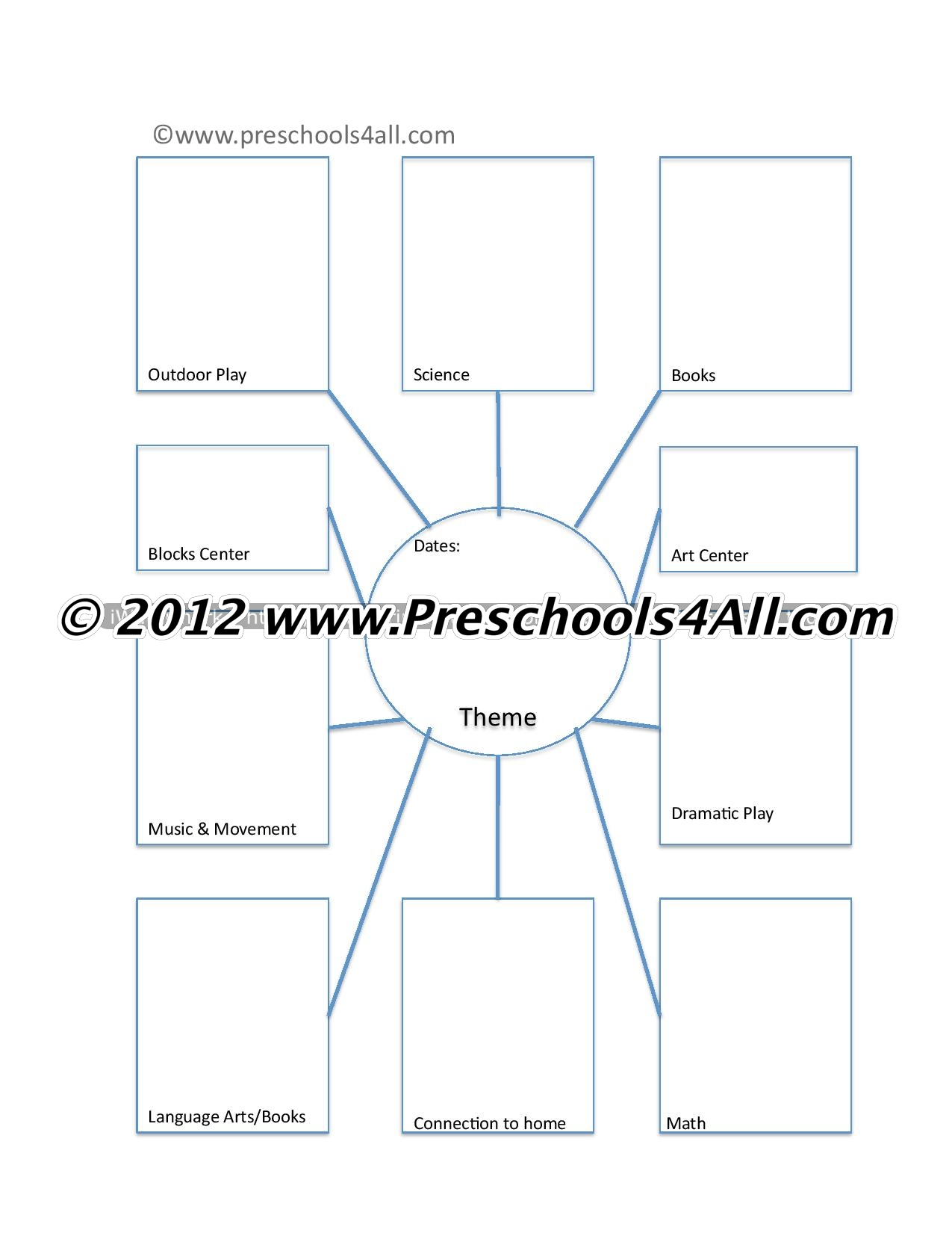 Preschool Lesson Plan Template  Lesson Plan Book Template