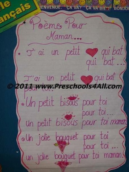 Mother Day's Poem (French)