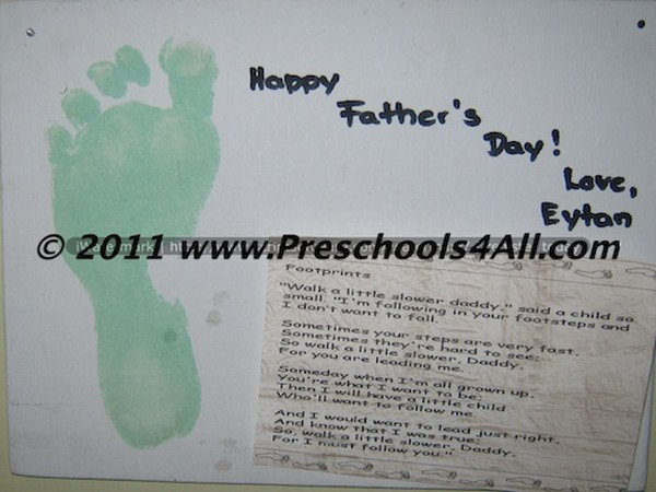 Father's Day Foot Print
