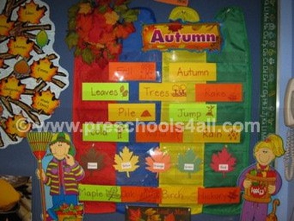 Autumn Word Bulletin Board