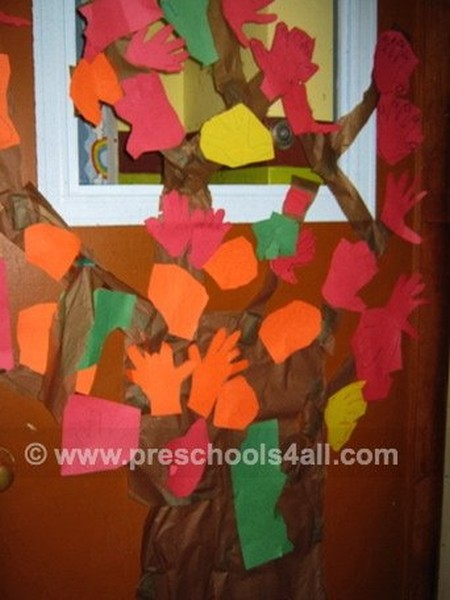 2D Fall Trees Bulletin Board