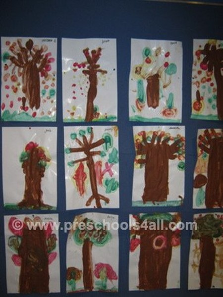 Fall Tree Painting Bulletin Board