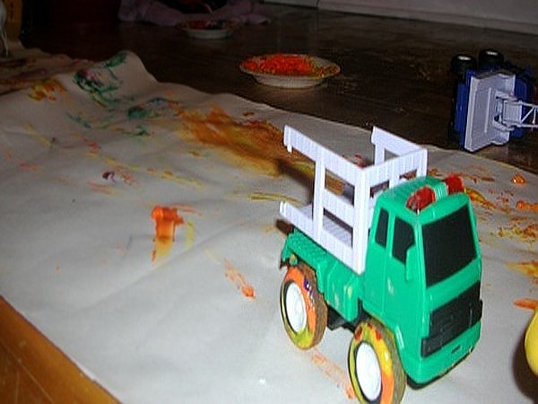 Painting with Toy Cars 1