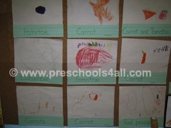 Favorite Vegetable Bulletin Board