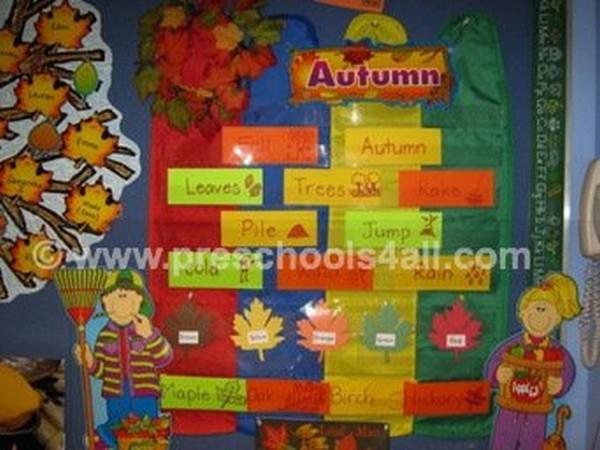 Autumn Word Bulletin Board