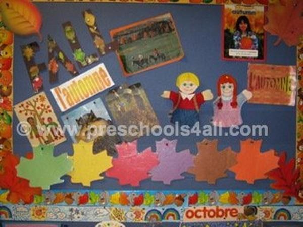 Fall Leaves Bulletin Board 2
