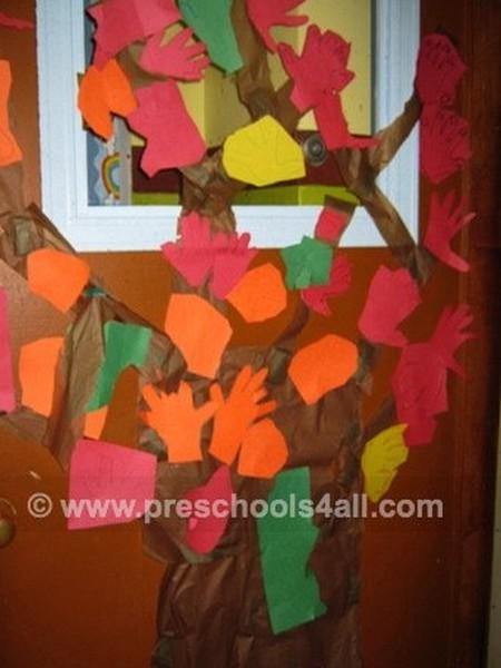 2D Fall Trees Bulletin Board