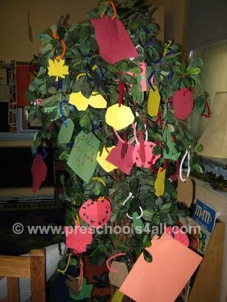 3D Fall Trees Bulletin Board