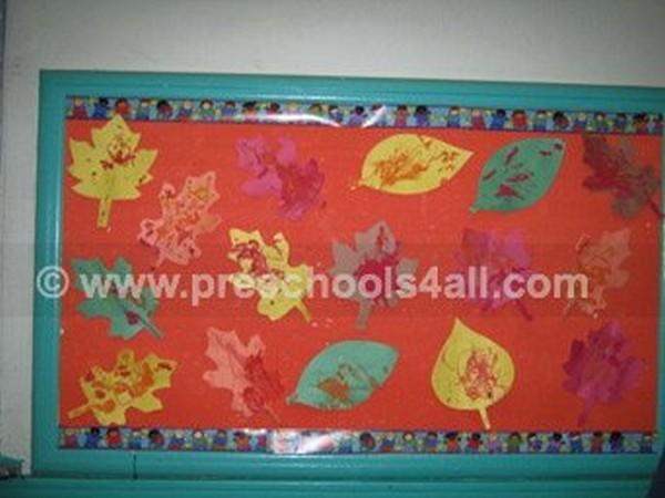 Fall Leaves Bulletin Board